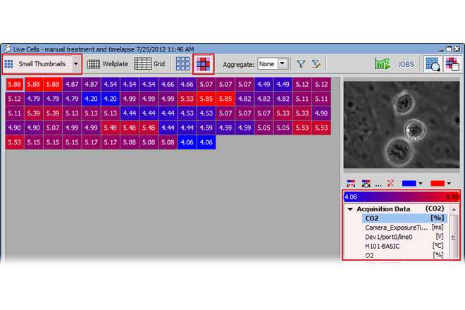 Result view example - Heatmap image